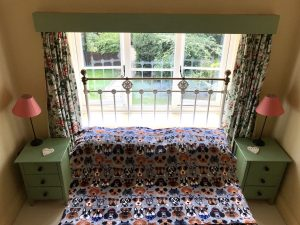 bed with fleece throw2 300x225